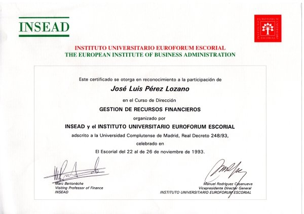 INSEAD. Gestion De Recursos Financieros