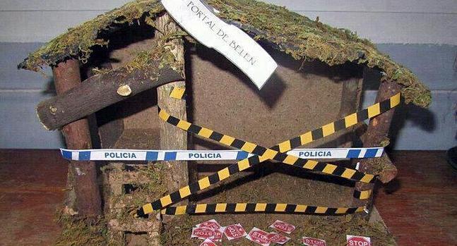 """El niño Jesús, """"un desahuciado más"""" en el belén de un pueblo de A Coruña"""